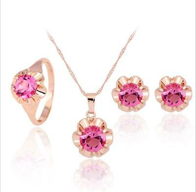 Bridal jewelry necklace pendant earrings ring gift fashion party creative sets