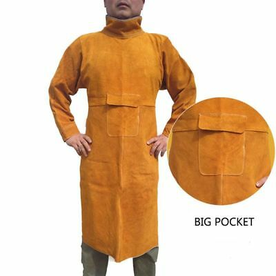 Safety Clothing Welding Long Jackets Leather Welder Durable Retardant Clothes