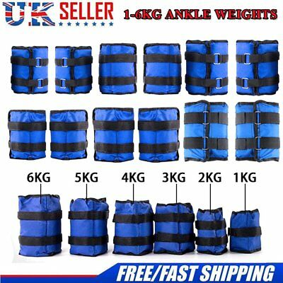 1-6kg 1 Pair ADJUSTABLE ANKLE WEIGHTS GYM EQUIPMENT WRIST FITNESS YOGA UK STOCK