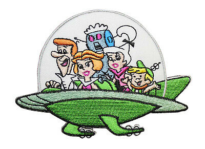 The Jetsons Embroidered Iron On Patch - The Jetsons Family Car Spaceship Cartoon