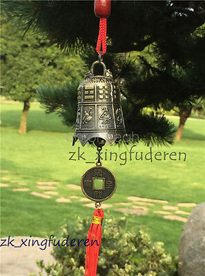 Old chinese style metal bell bless blessing aeolian bells carve suspensibility