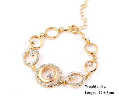Fashion attractive size circle interlock bracelet artificial crytal lover gift