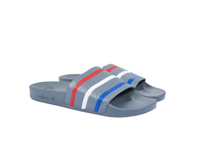 9d35ac801a0c PALACE X ADIDAS SS18 Adilette Slides Grey Red Blue Size 8 IN HAND ...