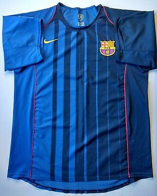 fae4a5c9ef 5 5 Barcelona 2004~2005 Original Football Soccer Away Shirt Jersey Size Xl  Nike