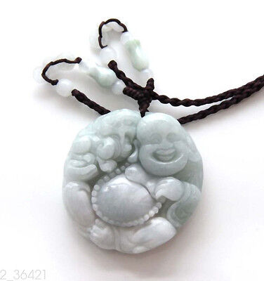 Chinese beautiful natural jade hand-carved buddha Jade pendant bring peace