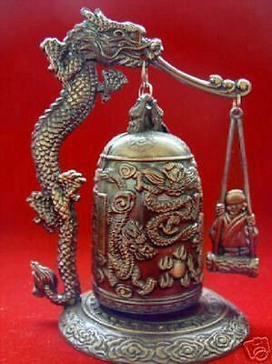 HOT SALE Excellent chinese Tibet Brass Dragon buddha Bell Free Shipping