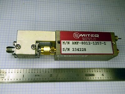 Miteq AMF-8012-1257 8.0 - 12.0 GHz RF/ Microwave Amplifier with input isolator