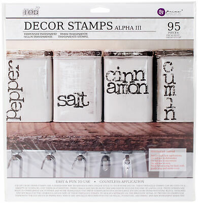 "Prima Marketing Iron Orchid Designs Decor Clear Stamps 12""X12""-Alpha #3, 1 Sheet"
