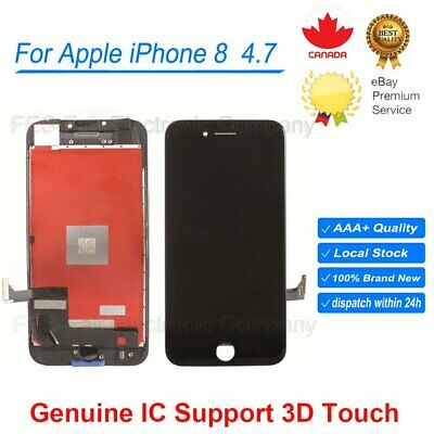 "For Apple iPhone 8 4.7"" 3D Touch Screen LCD Digitizer Assembly Replacement Black"