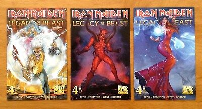 Iron Maiden Legacy of the Beast  # 4 Cover A,B,C 1st Prints Heavy Metal 2018 NM