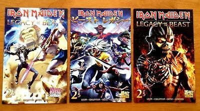 Iron Maiden Legacy of the Beast # 2 Covers A,B,C 1st Prints Heavy Metal NM/NM+