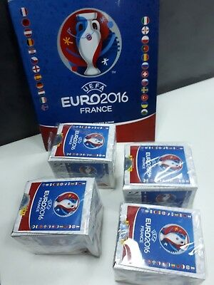 PANINI UEFA EURO 2016 4x Box with 200x Packets (1000 stickers) and Album