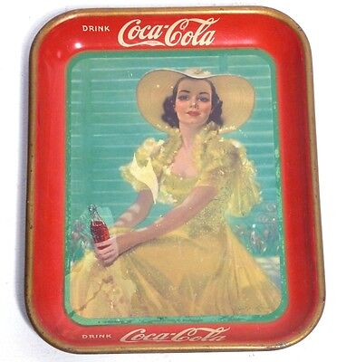Coca Cola Tray (1938) Vassoio Originale Vintage Rare Waimea Serving  Made In Usa