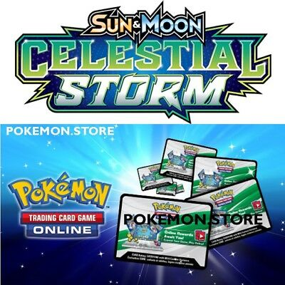 50 Celestial Storm Codes Pokemon TCG Online Booster sent INGAME / EMAILED FAST!