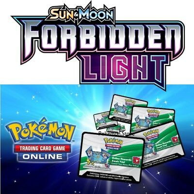 36 x Pokemon SM Forbidden Light Code TCGO Cards TCG Codes SENT WITHIN 12 HOURS