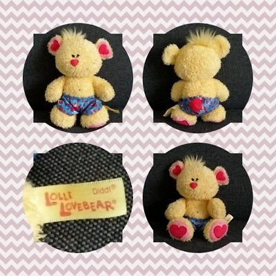 Peluche Doudou Diddl Ours Lolli Lovebears TRES RARE TBE 21cm