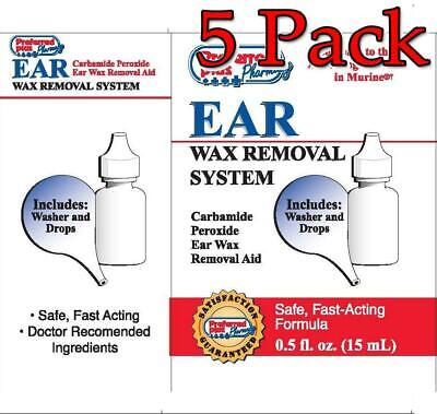 Preferred Plus Ear Wax Removal System, 0.5oz, 5 Pack 027510010527A180