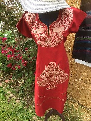 Women's  Mexican  Embroidered ,  Dress