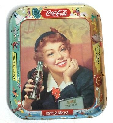 Coca Cola Tray (1953) Vassoio Originale Vintage Rare Waimea Serving  Made In Usa