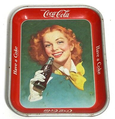 Coca Cola Tray (1950) Vassoio Originale Vintage Rare Waimea Serving  Made In Usa