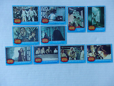 Lot of 10 First Series Star Wars Cards 1977 Blue Borders #26 - 32, 34 - 36