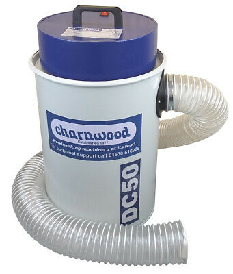 Charnwood DC50 High Filtration 50Litre Dust Extractor 240v with 5pce Adaptor kit