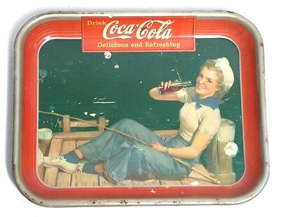 Coca Cola Tray (1940) Vassoio Originale Vintage Rare Waimea Serving  Made In Usa