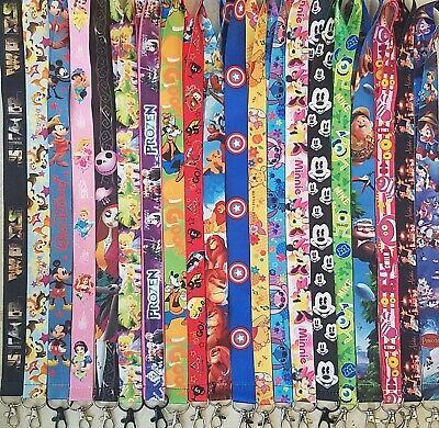 Pick One! Disney World Lanyard For Pin Trading! Cars Monsters Tinkerbelle! B3G1