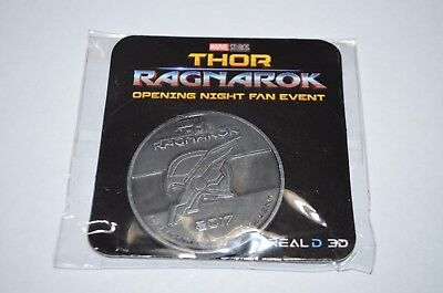 """Thor Ragnarok Opening Night Fan Event 2017 Coin Theater Promo 1 1/2"""" >NEW<"""