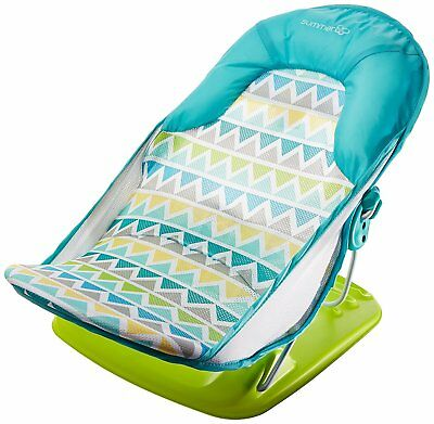 Summer Infant Deluxe Baby Bather Triangle Stripe Tub Bath Shower 3 Position