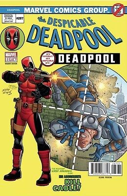 Despicable Deadpool #287 2nd Print Marvel Amazing Spider-Man #129 Homage (B 540)