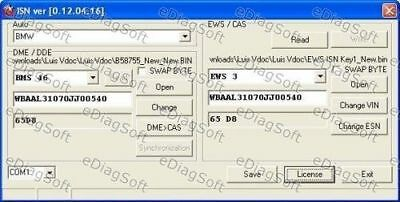 BMW MINI ROVER ISN Synchronisation Software Synchro DME DDE