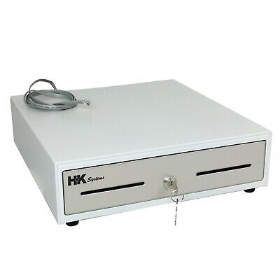 """Heavy Duty 13"""" White(RAL 9003) POS Cash Drawer with 4Bill/5Coin Stainless Steel"""