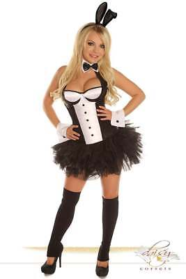 Daisy Corsets 5 Piece Sexy Tuxedo Bunny Costume with Skirt/Choker/Ears/Cuffs