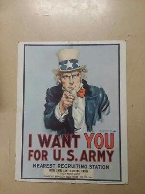 Authentic 1968 Uncle Sam Wants You for USA Viet Nam War Era Fairmont, Minnesota