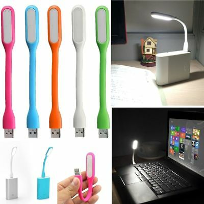2x Flexible Mini USB LED Licht Lampe lesen hell für Notebook Laptop PC Neu.