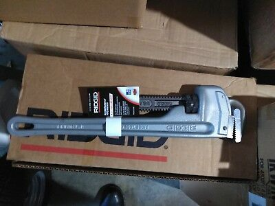 Ridgid 18 Inch Aluminum Pipe Wrench Cat. No. 31100 Model No. 818 Brand New
