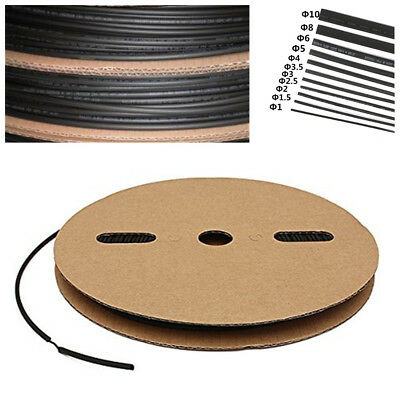 """100FT.1/8""""/3mm I.D Polyolefin 2:1 Heat Shrink Tubing Cable Wrap Wire Tube Sleeve"""