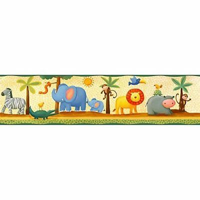 RoomMates Peel & Stick Wallpaper Border Jungle Adventure Animals