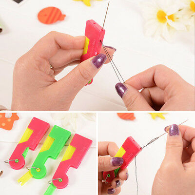 10X Elderly Use Automatic Easy Sewing Needle Device Threader Thread Guide Tool