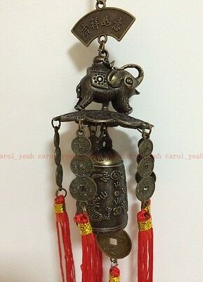Chinese excellent beautifully carved elephant Buddha bell decoration Wind chimes