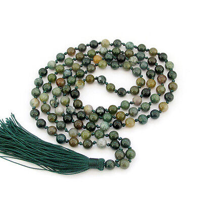 6mm Indian Agate Hand Knotted Mala (108 Beads)