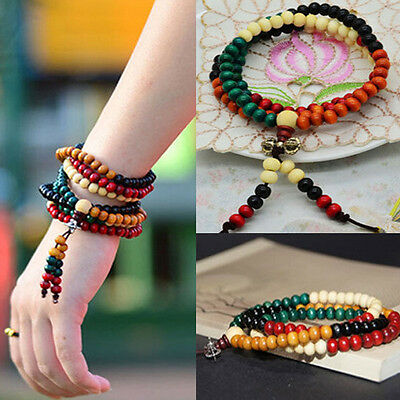 Sandalwood Buddhist Buddha Meditation 108Pcs Prayer Bead Mala Bracelet/Necklace