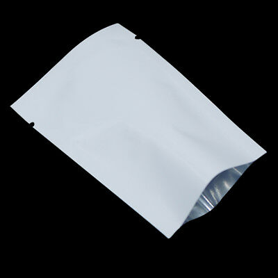 White Open Top Aluminum Mylar Food Grade Storage Bag Heat Seal Vacuum Pack Pouch