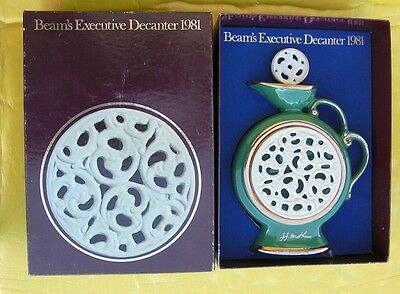 Early Jim Beam Decanter Made In Usa 1981 In Original Case Limited Issue