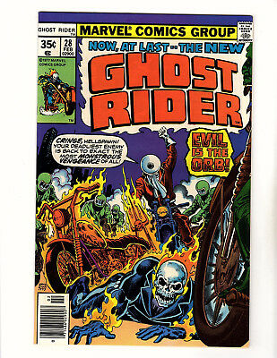 Ghost Rider #28 (1978, Marvel) NM- vs the Orb! Ernie Chan Cover