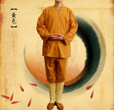 Monk Kung fu Uniform Shaolin Buddhist Robe Meditation Farming Tai chi Suit New