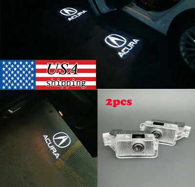 2× LED Car Door Logo Laser Shadow Projector Lights for Acura ZDX MDX TL TLX RLX