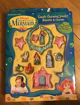Disneys The Little Mermaid Simply Charming Jewelry, Braclet And Charms, NIB