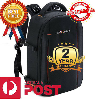 K&F Concept DSLR Camera Backpack Bag Waterproof Large Capacity Canon NIkon Black